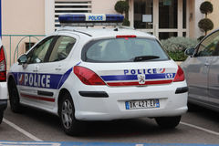 Francuski samochód policyjny Peugeot 308 zdjęcia royalty free
