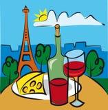 francuski wino Zdjęcia Royalty Free
