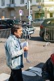 Francuski 2017 wybór prezydenci agitaci Parti polityczny ouv Obraz Royalty Free