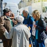 Francuski 2017 wybór prezydenci agitaci polityczna dyskusja Zdjęcie Royalty Free