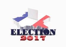 Francuski wybory pojęcie na bielu royalty ilustracja