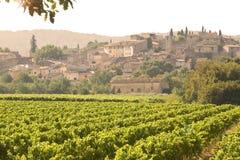 francuski zmierzchu wioski winnica Obrazy Stock