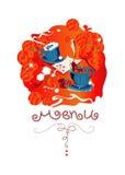francuskie menu graficzny Obraz Royalty Free