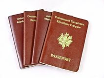 francuskie paszporty Zdjęcia Royalty Free