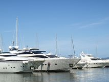 francuskie Riviera jachtów portu Zdjęcia Stock