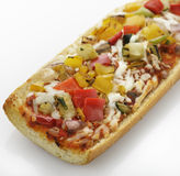 Francuskiego chleba pizza Fotografia Royalty Free