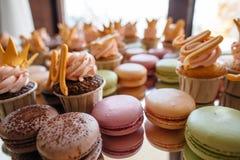 Francuskiego ciasta makaron Selekcyjna ostrość Fotografia Royalty Free