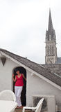 Francuskiego dachu taras Obraz Stock