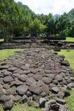 Francuskiego Polynesia Tahiti marae stara kamienna struktura Zdjęcia Royalty Free