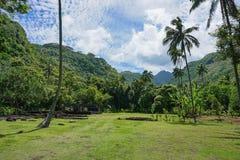 Francuskiego Polynesia Tahiti wyspy dolina z marae Obraz Stock