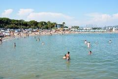 Francuskiego Riviera plaża fotografia royalty free