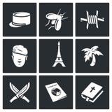 Francuskiej Cudzoziemskiej legii ikony również zwrócić corel ilustracji wektora ilustracji