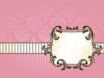 francuskiej horyzontalnej etykietki prostokątny rocznik Fotografia Royalty Free