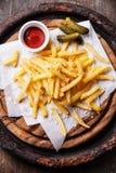 Francuzów dłoniaki z ketchupem obrazy stock