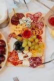 Francuzów dłoniaki i mini pizze Zdjęcie Stock