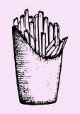 Francuzów dłoniaki w pakunku, fast food Obraz Stock