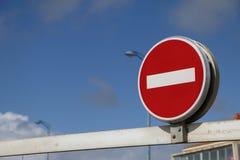Francuz żadny hasłowy znak na niebieskim niebie Obraz Royalty Free