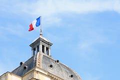 Francuz flaga na kopule Palais du Luksemburg Zdjęcia Royalty Free