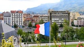 Francuz flaga w Grenoble zdjęcie wideo