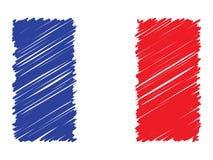 Francuz gryzmoląca flaga, wektorowa ilustracja royalty ilustracja