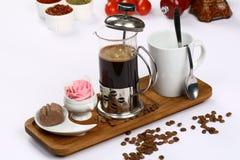 Francuz Prasowa kawa zdjęcia stock