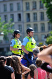 Francuz wspinający się police-01 Fotografia Royalty Free