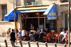Francuza baru taras - Paryż Zdjęcia Stock