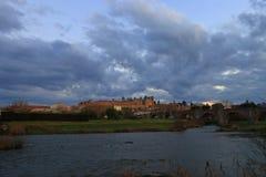 Francuza kasztel Carcassonne w Aude Fotografia Stock