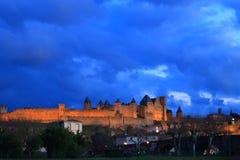 Francuza kasztel Carcassonne w Aude Zdjęcie Stock