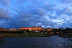 Francuza kasztel Carcassonne w Aude Zdjęcia Royalty Free