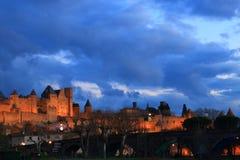 Francuza kasztel Carcassonne w Aude Zdjęcia Stock