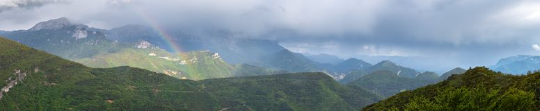 Francuza krajobraz - Vercors obrazy stock