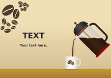 Francuza Prasowy Kawowy tło Zdjęcie Royalty Free