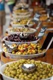 francuza targowy oliwek kram fotografia stock