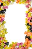 Frane des pâtes multicolores de farfalle Images stock