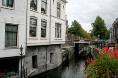 Franeker shopping street Stock Photo