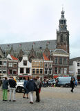 Franeker shopping street Royalty Free Stock Image