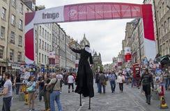 Frange de festival d'Edimbourg Photographie stock libre de droits