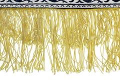 Frange jaune Photo stock