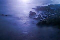 Frangente lungo di esposizione alla notte fotografie stock libere da diritti