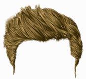 Frangia alla moda d'avanguardia dei capelli dell'uomo alta designazione dei capelli 3d realistico Fotografia Stock