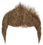 Frangia alla moda d'avanguardia dei capelli dell'uomo bellezza alta designazione dei capelli 3d realistico Fotografia Stock