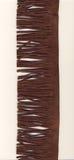 Frangia della pelle scamosciata del Brown Fotografia Stock Libera da Diritti