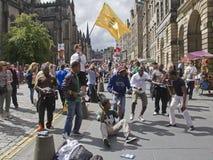 Frangia di festival di Edinburgh immagine stock
