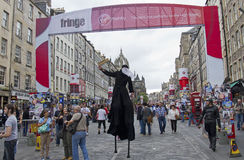 Frangia di festival di Edinburgh Fotografia Stock Libera da Diritti