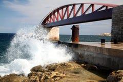 Frangiflutti, grande porto, Malta Fotografia Stock Libera da Diritti