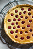 Frangipane and raspberries tart Stock Photography