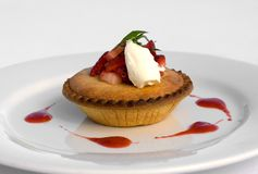 Frangipane Tartlet Stock Photography