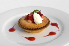 Frangipane Tartlet Royalty Free Stock Photo