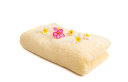 Frangipani flower on a towel Royalty Free Stock Photography